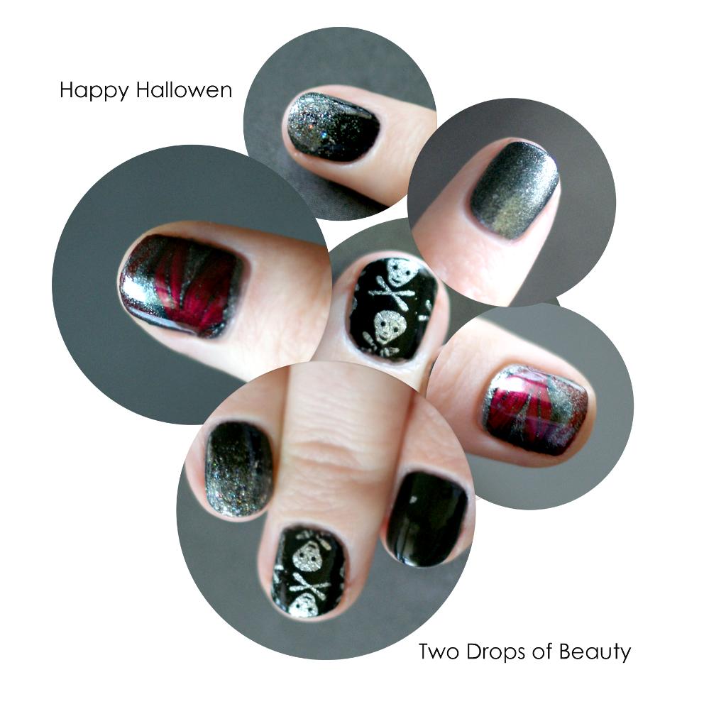 halloween nail art, маникюр на хеллоуин,нейл арт, градиент, фольга, марблинг, праздники, событие