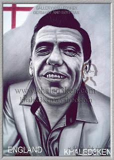 STARS ENGLAND JONNY HAYNES Portrait Drawing Soccer Football Khaled3Ken Gallery