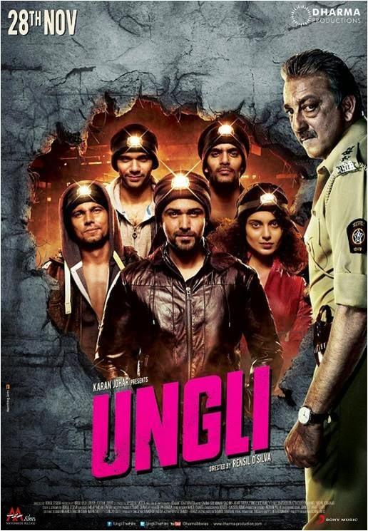 Inspector Sanjay Dutt behind gang of Kangna Ranaut, Emraan Hashmi and Randeep Hooda in Ungli movie poster