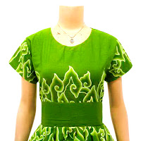 DB 2902 - Mode Baju Dress Batik Modern Terbaru 2013