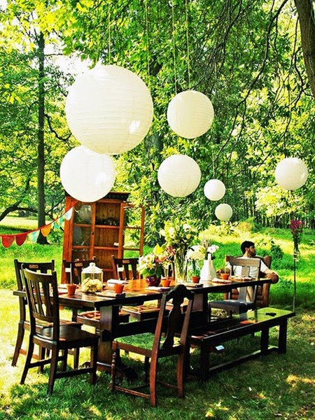Inspire bohemia outdoor dining parties part ii for Terrace party decoration
