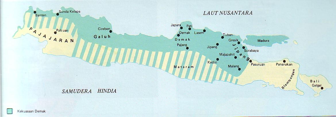 Peta Kerajaan Majapahit