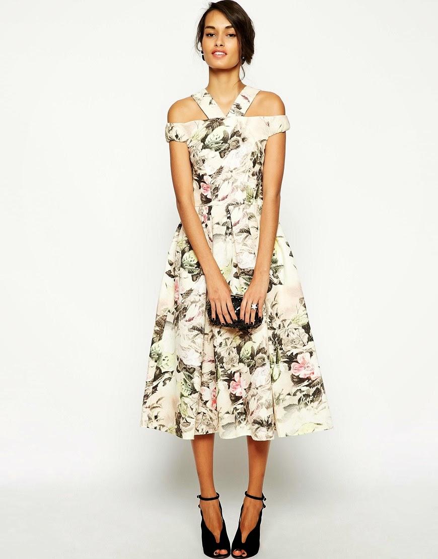 asos tapestry dress, rose print prom dress,