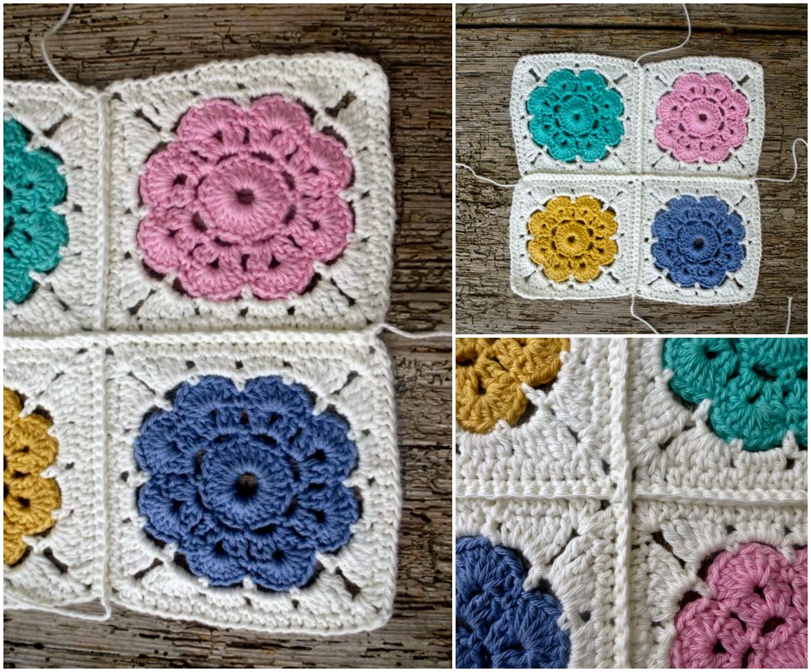 Crochet Stitches To Join Squares : My Rose Valley: How to join Maybelle Squares