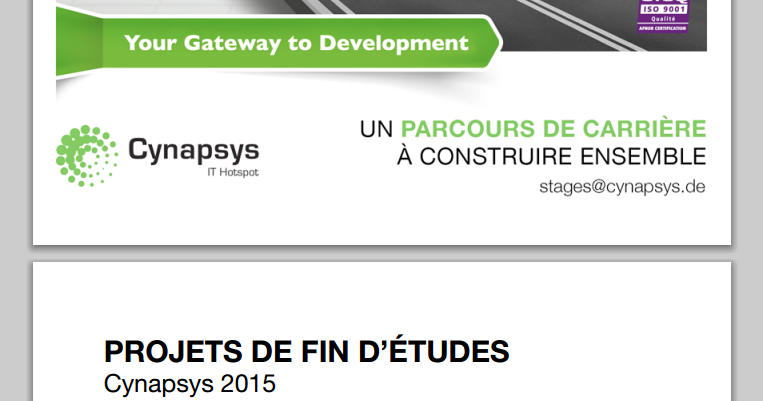 catalogue de stages pfe 2015 cynapsys
