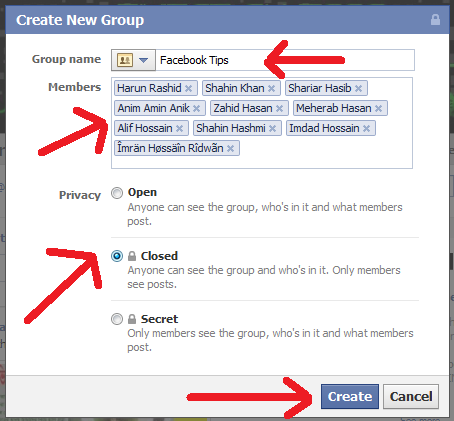 Create a group page on facebook instructions
