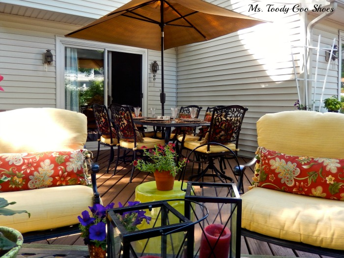 Summer Backyard Deck --- Ms. Toody Goo Shoes