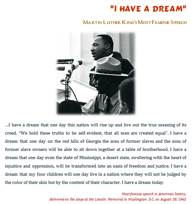 martin luther king rhetorical use
