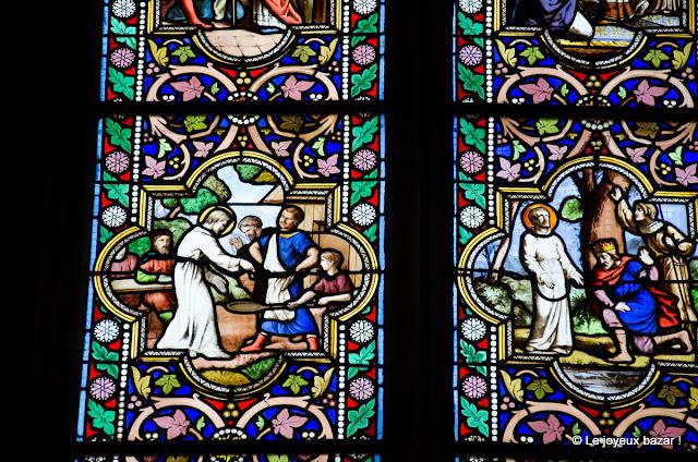 Quimper - cathédrale - vitrail Saint Corentin