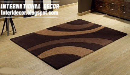 Stylish Brown Rug, Contemporary Rug Style, Modern Brown Rug Model Picture