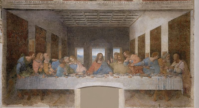 "Painting ""The Last Supper"" by Leonardo da Vinci, 1495-1498"
