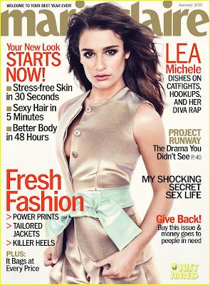 """Леа Мишел на корицата на януарския """"Marie Claire"""""""