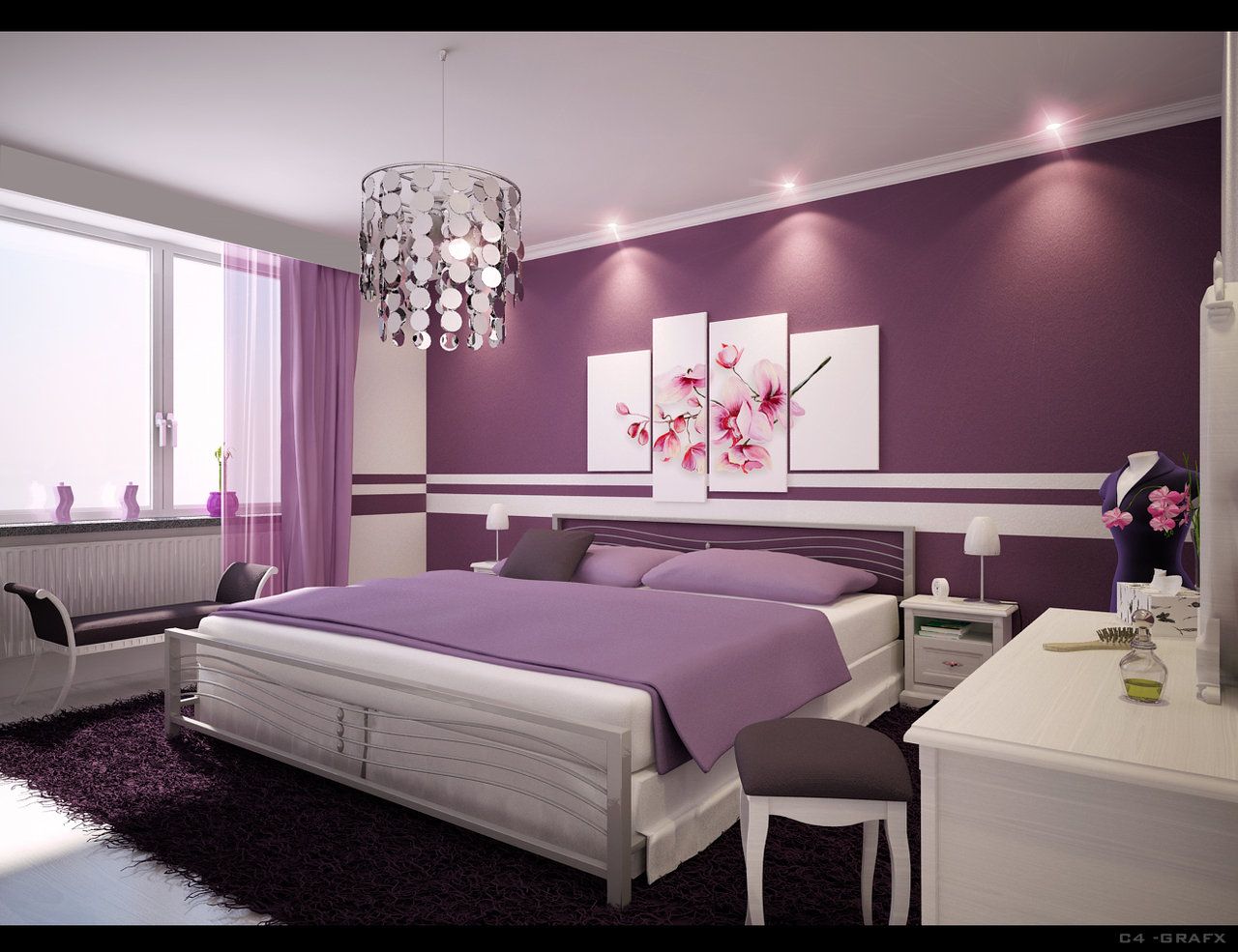 Bedroom Images Decorating Ideas Brilliant With Purple Bedroom Design Ideas Pictures