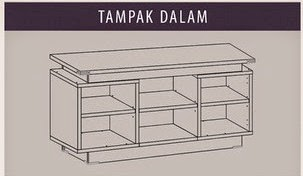 Tampak Dalam Meja TV CRD 9287 Popular Furniture