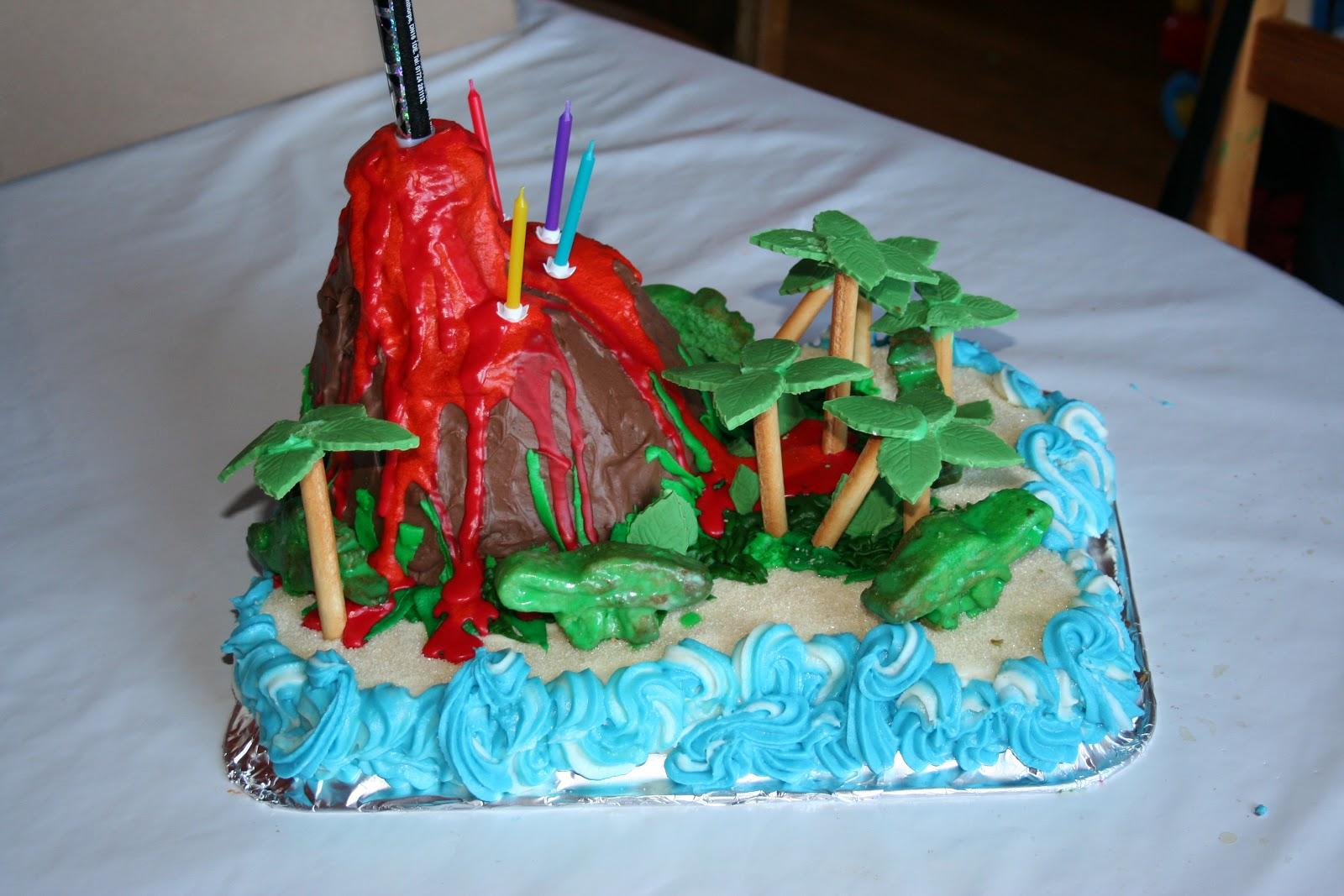 Global Family Volcano Island Cake