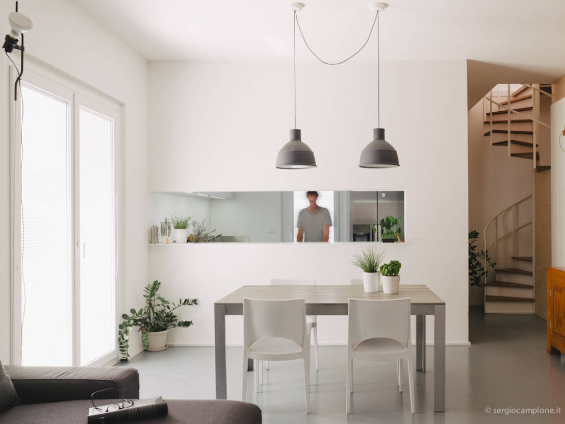 Casa luana a pescara by zero85 studio arc art blog by - Zona living con cucina ...