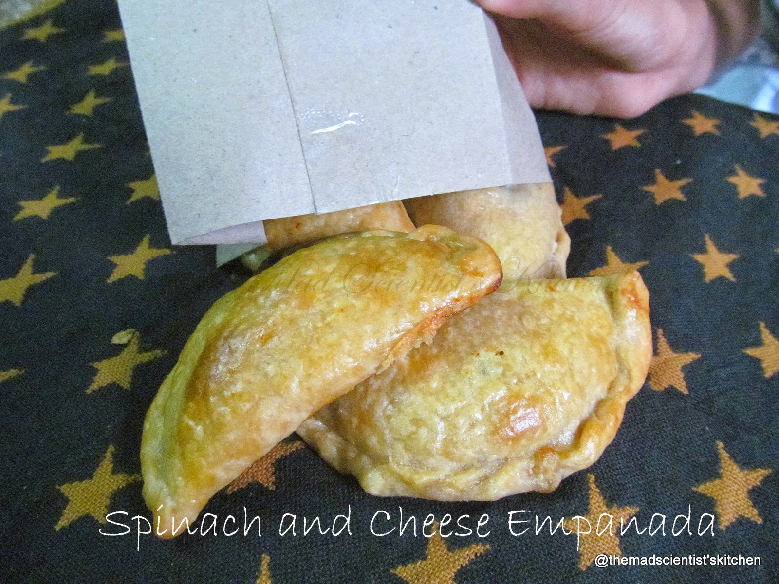 The Mad Scientist's Kitchen!!: Spinach Cheese Empanadas