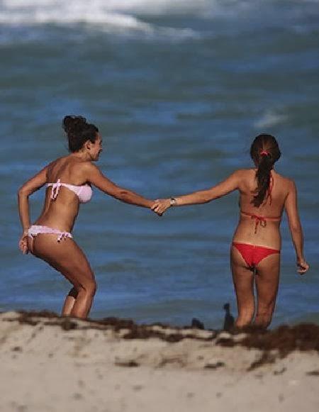 Behati Prinsloo strips into a Colorful Bikini as she takes a Dirty Dancing in Mexico