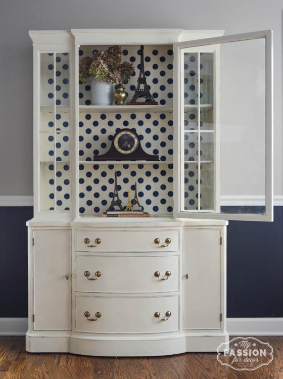 My Passion For Decor: Vintage China Cabinet Makeover  Off White Chalk Paint™