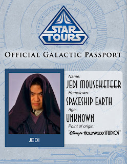 Dont Leave Home Without It... The Star Tours Galactic Passport