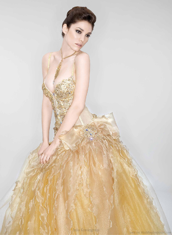 She fashion club red and gold wedding dresses for White and gold wedding dresses