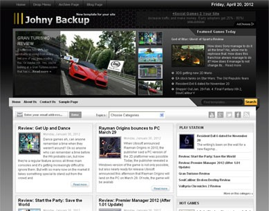 Johny Backup Blogger Template
