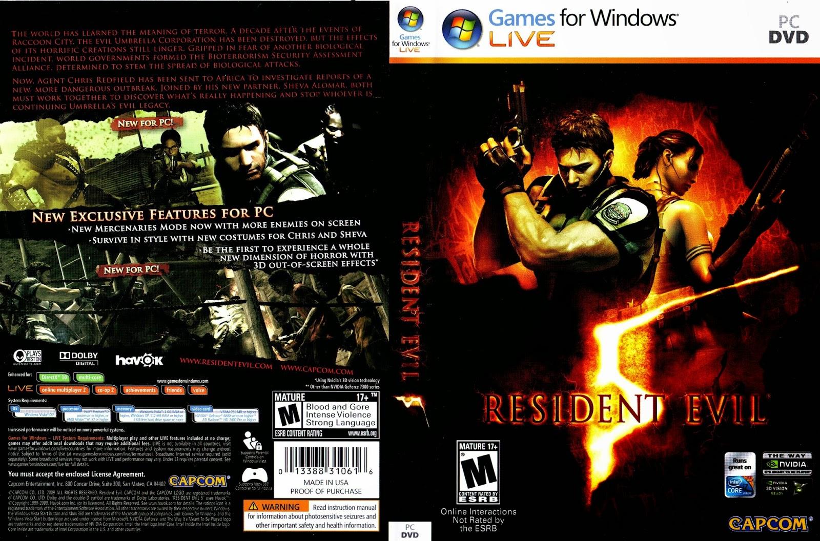 تحميل لعبة Resident Evil 5 برابط واحد مباشر