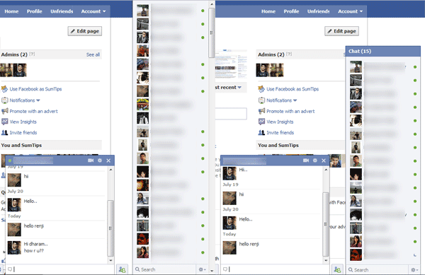 Get Back Old Facebook Chat with Facebook Sidebar Chat Reversion