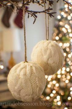 bombki ze swetra