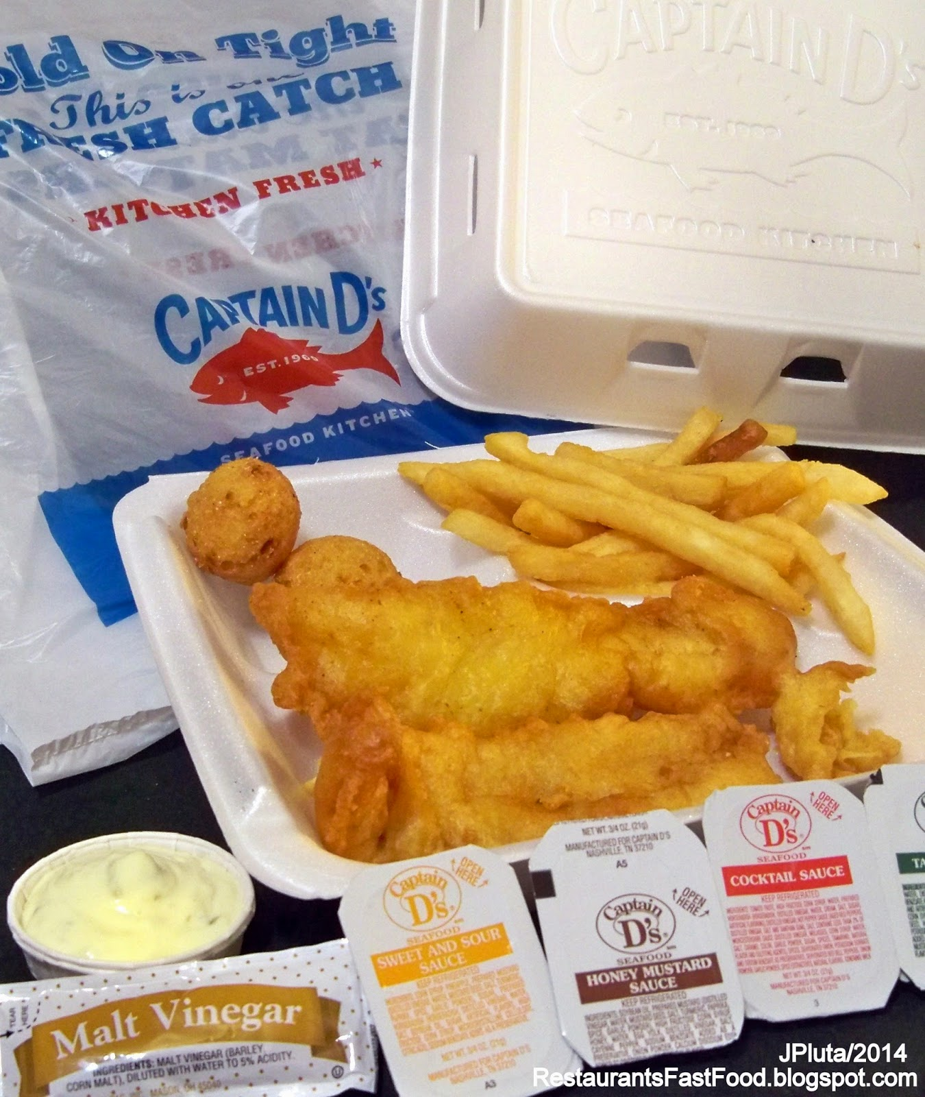 Captain D S Seafood Restaurant Panama City Florida W 23rd Street Fast Food Fish Shrimp Fl
