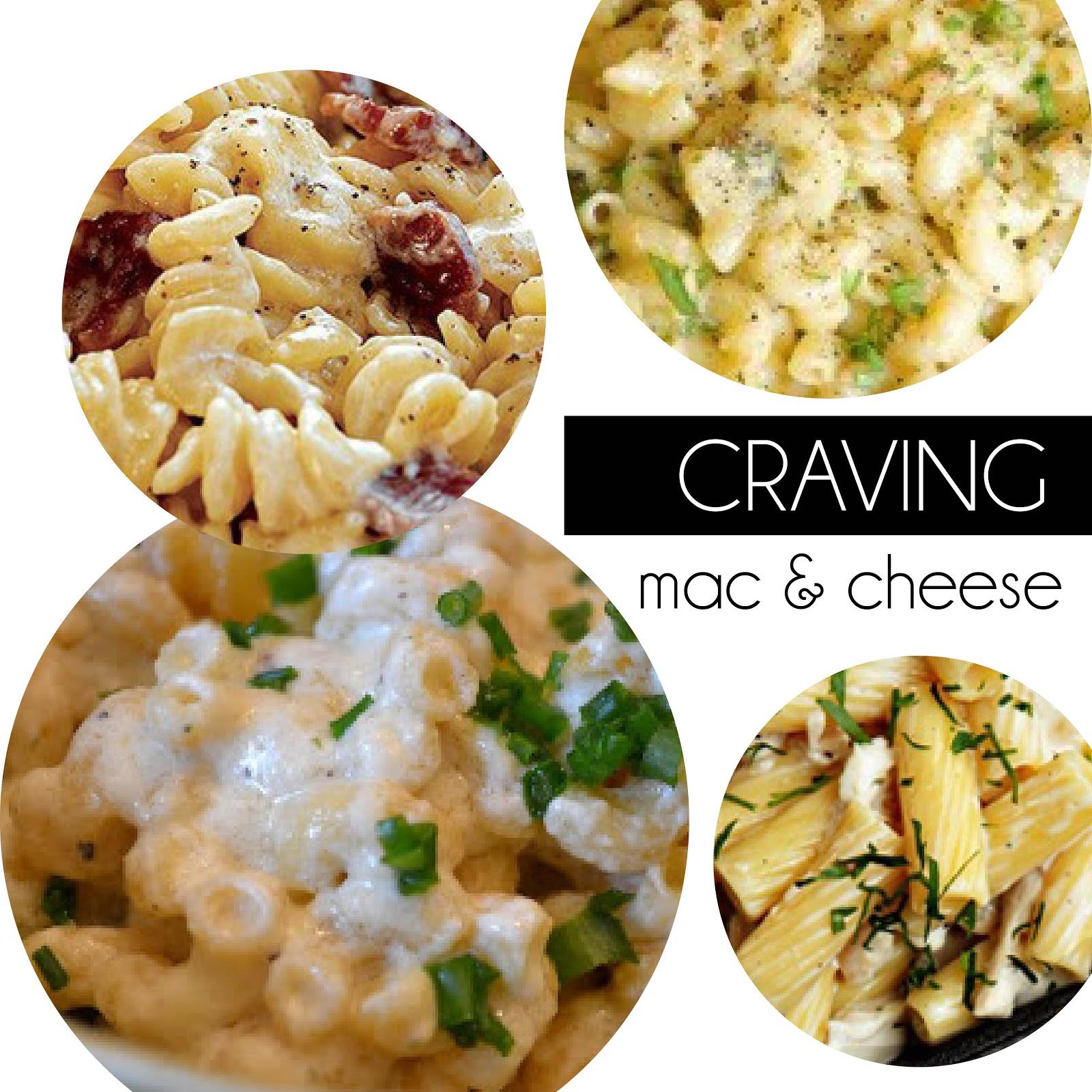 ... - mac and cauliflower - boursin - chicken, goat cheese and rosemary