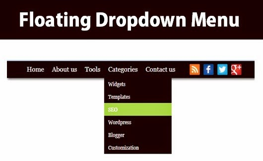 Προσθήκη floating dropdown menu στον blogger