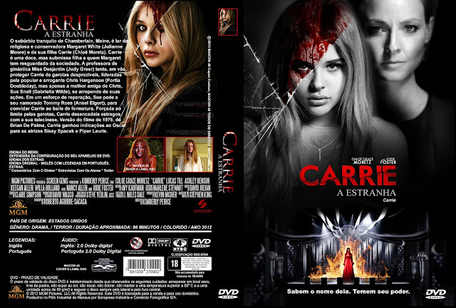 Capa DVD Carrie A Estranha (2013)