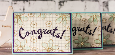 Garden in Bloom Glittery Congratulations Cards - find out about them and joining Stampin' Up! UK here