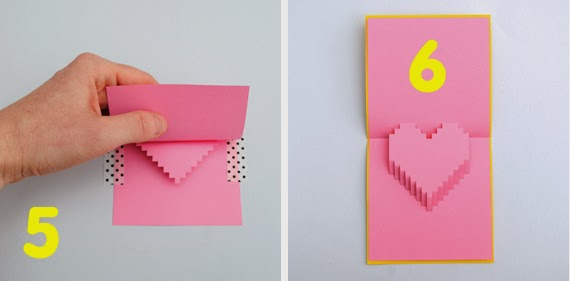 Popular DIY Crafts Blog How to Make a Pixel Heart Pop up Card – How to Make a Valentines Pop Up Card