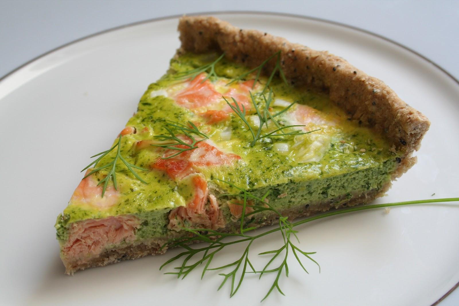 fais p 233 ter la recette tarte saumon et fanes de radis