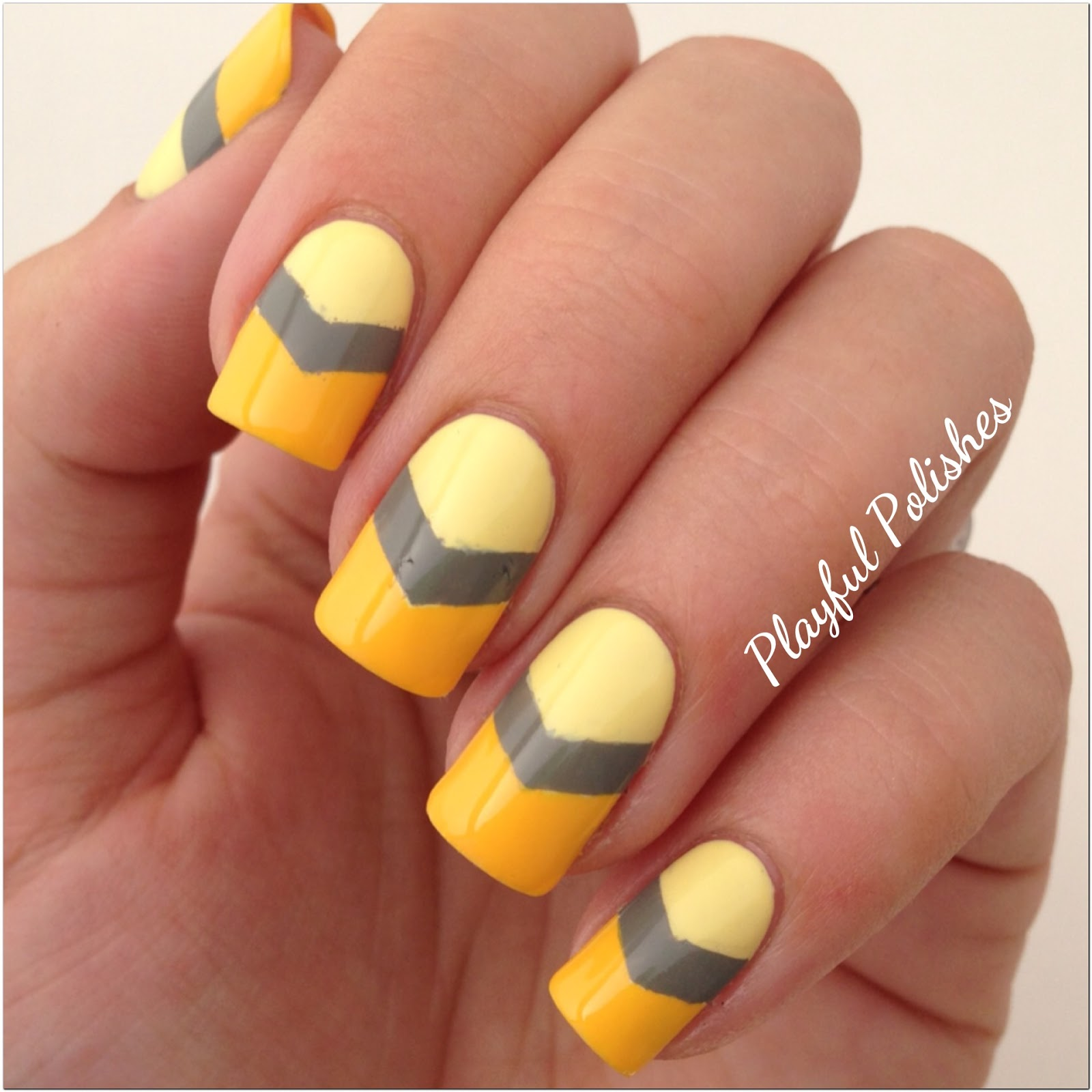 Playful polishes 31 day nail art challenge yellow nails the colors i used for todays design were silky polish tussah sunglow opi suzi takes the wheel and julep catrina i chose to use grey with the yellow prinsesfo Gallery