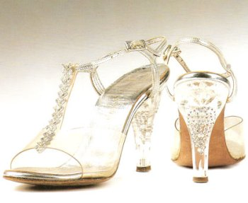 clear heels wedding shoes