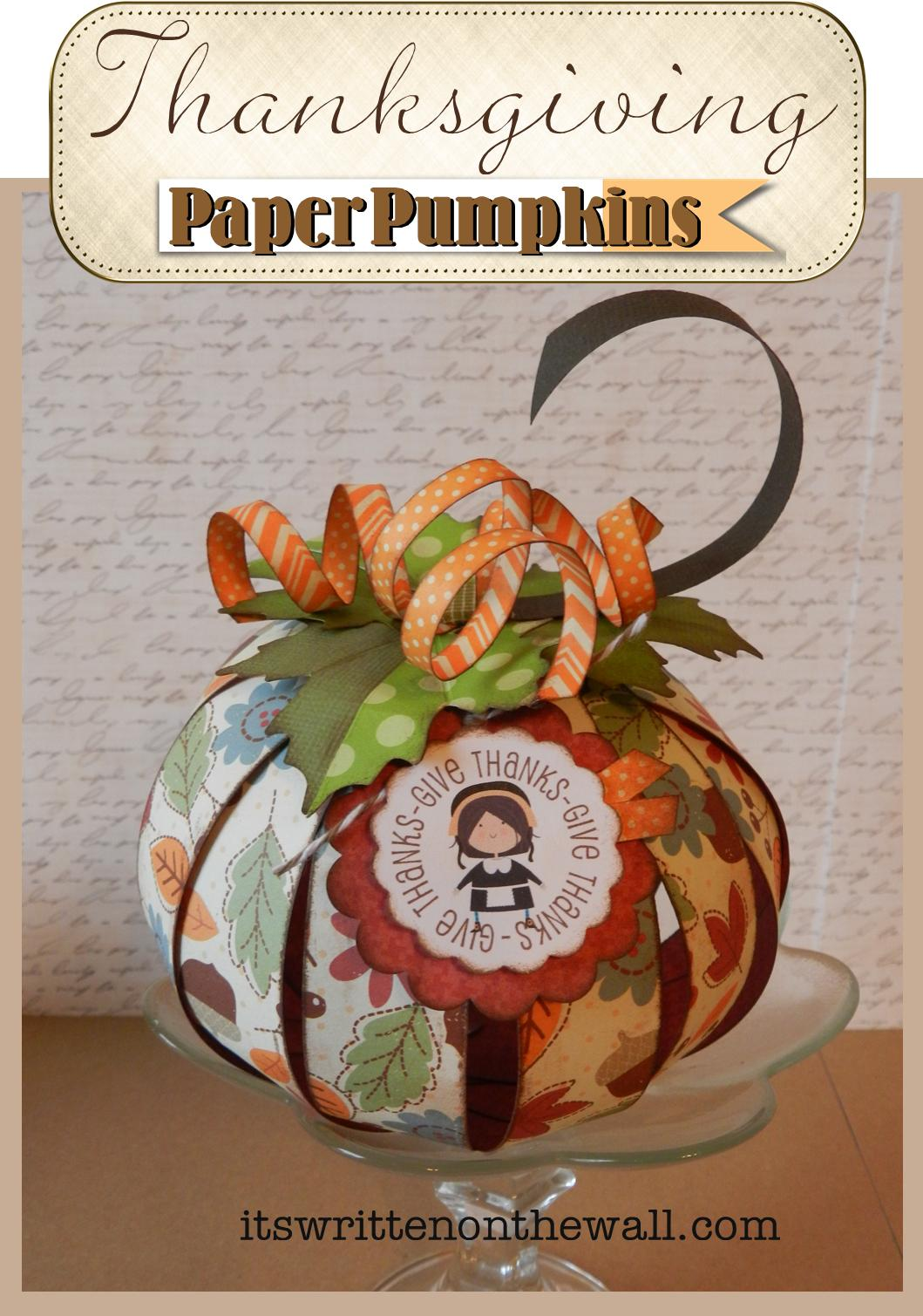 Paper thanksgiving decorations - photo#24