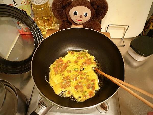 納豆と梅干しの玉子焼きの作り方(3)