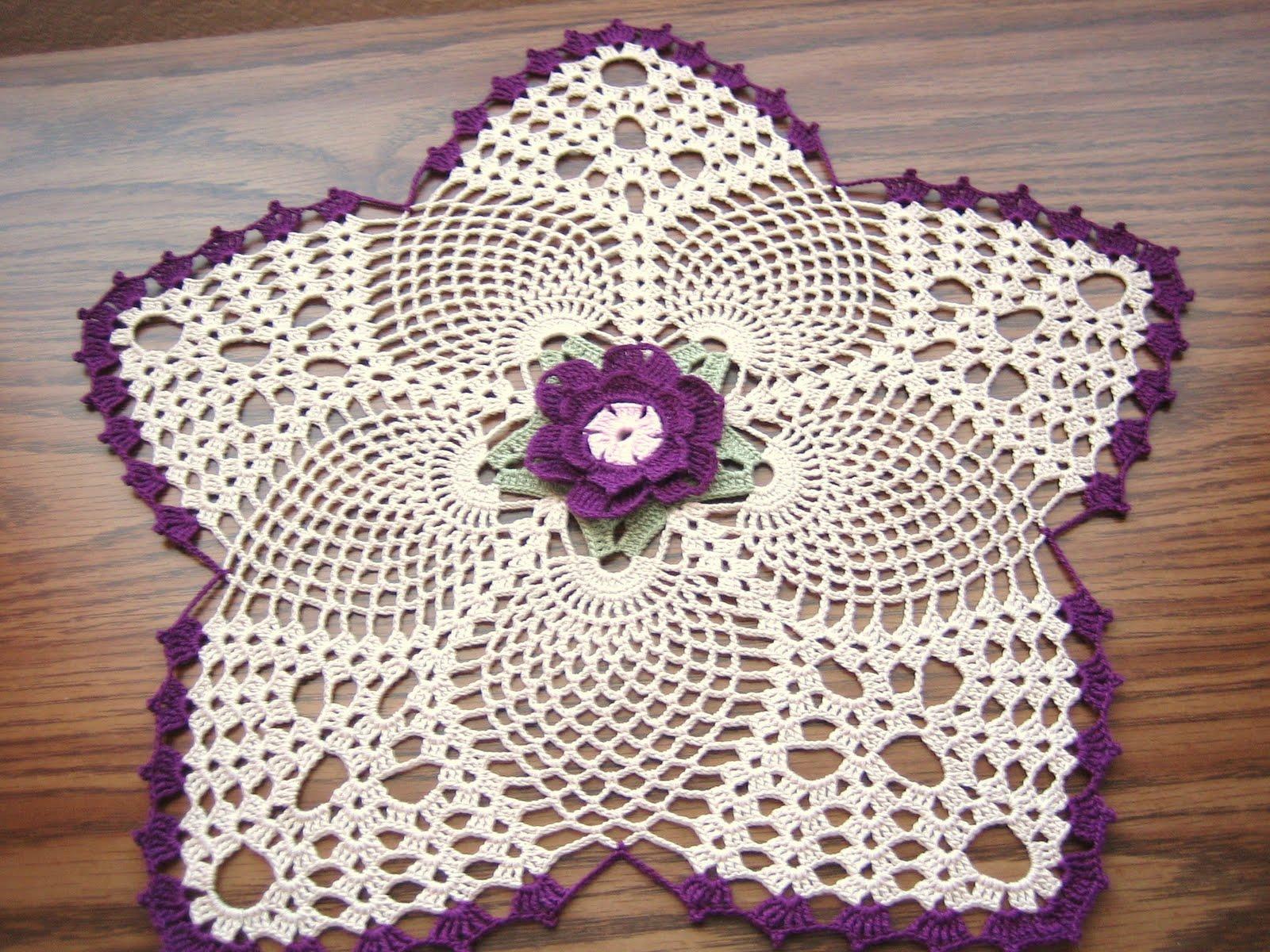 Crochet doilies naperon au crochet sali bambo fashion life - Decoration au crochet ...