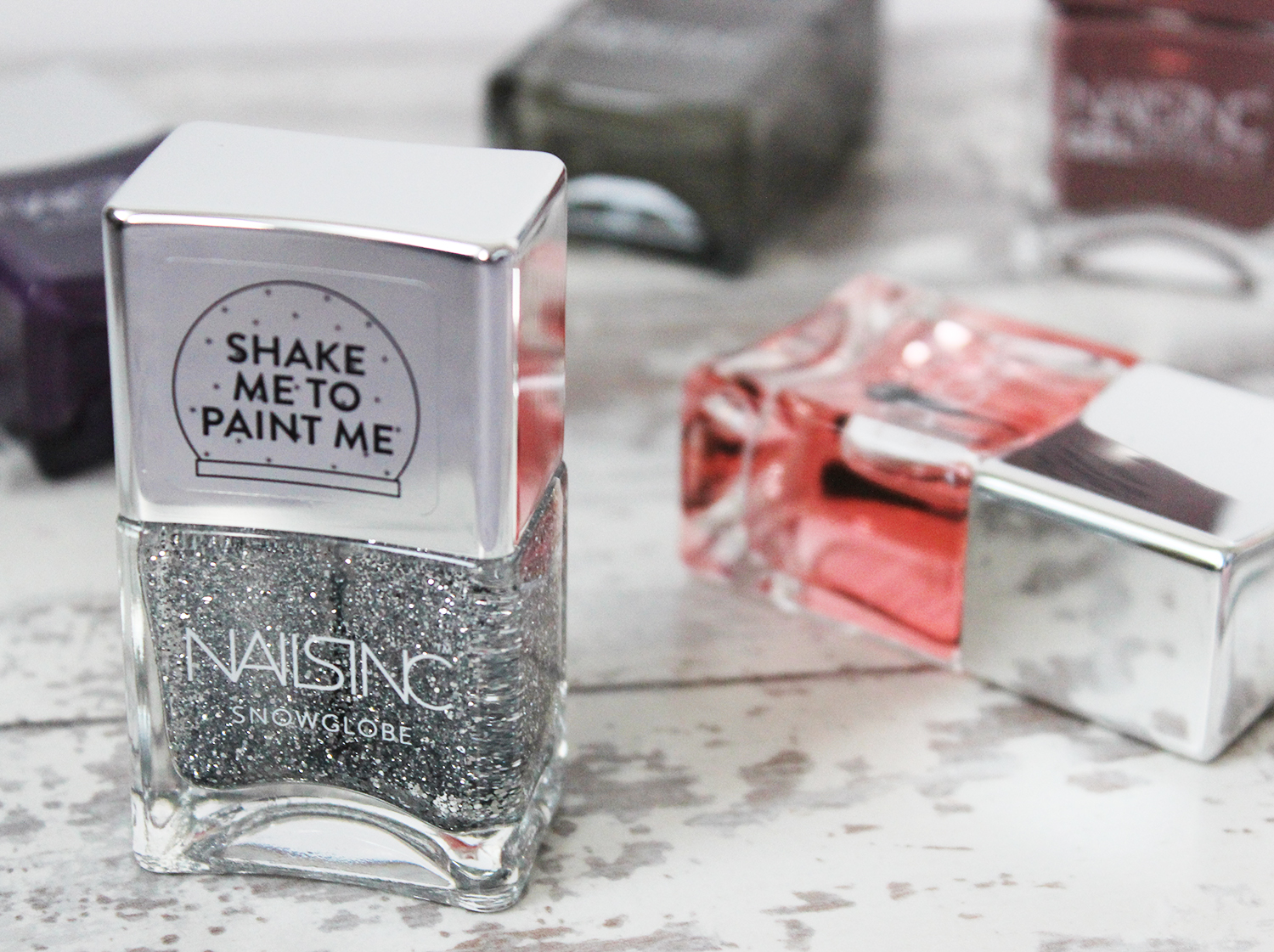 Nails Inc QVC TSV December 2015 Silver Snowglobe
