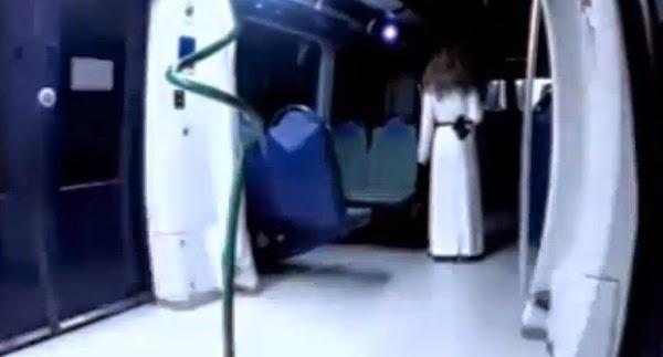 Video Penumpang Kereta Api Diganggu Hantu Kanak Kanak