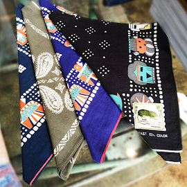 Kapital Fast Color Selvedge Bandanas from Japan