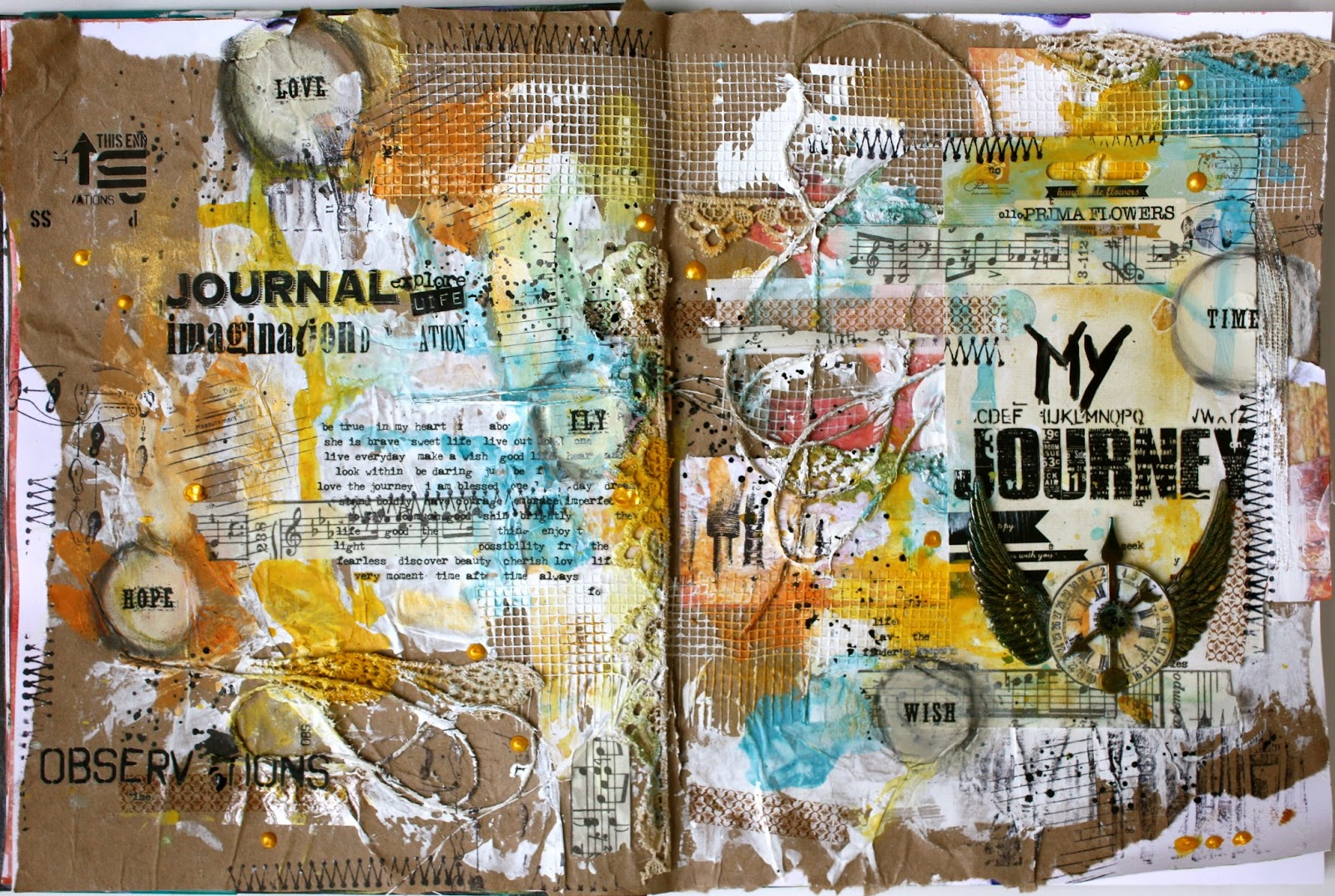 "Ophelia S Adornments Blog May 2012: Limor Webber Designs DT Blog: ""My Journey"" Art Journal"