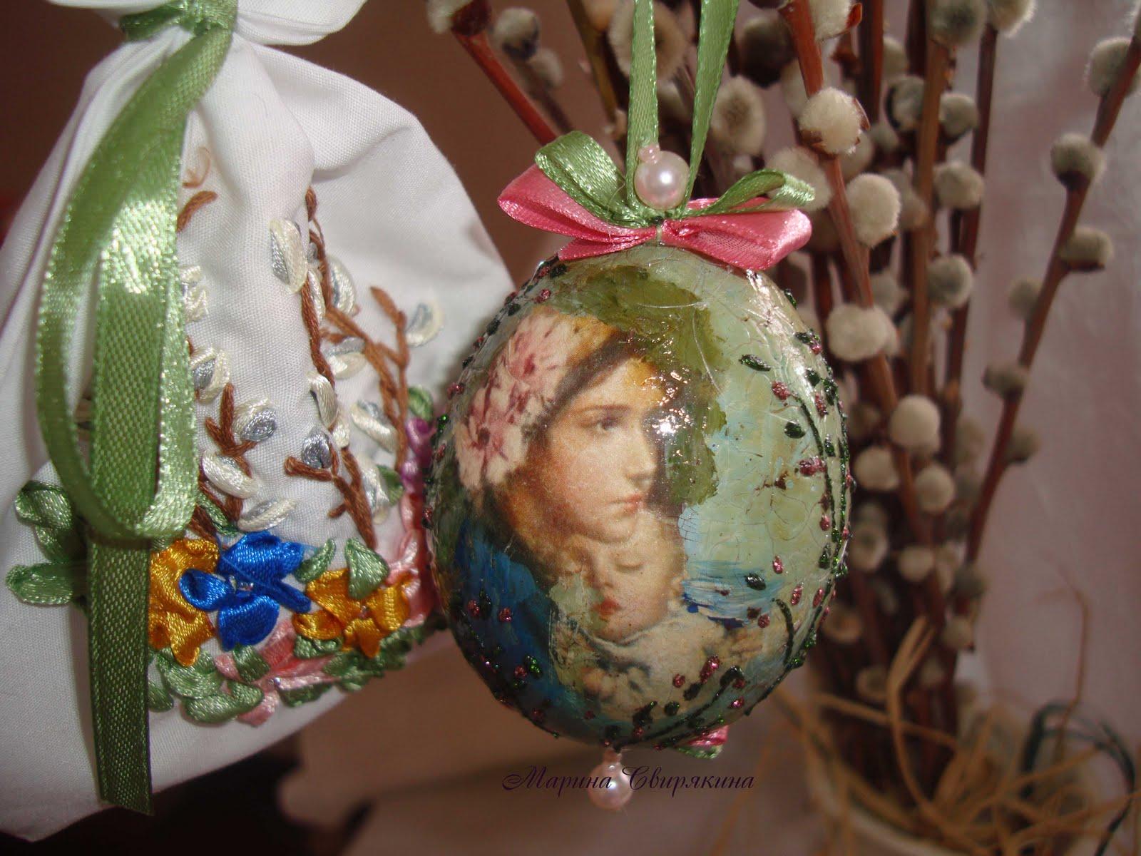 Вышивка на яйце фото