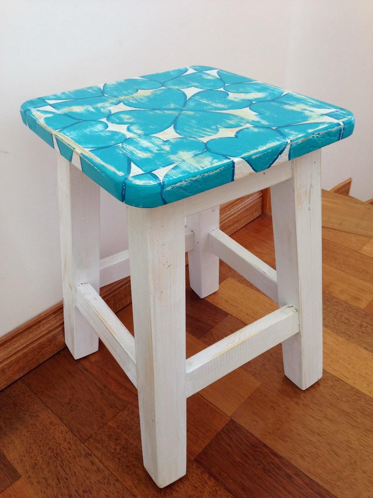 Vintouch muebles reciclados pintados a mano bancos - Muebles de madera pintados a mano ...