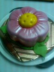 Torta en forma de flor