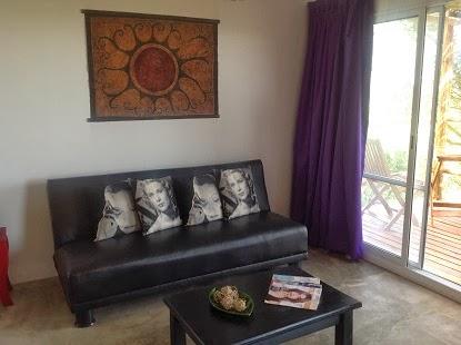 Jacaranda, living con sofa cama