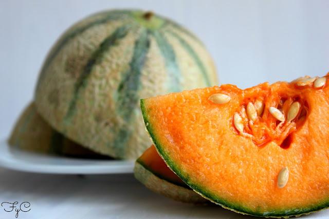 Batido de melon cantalupo